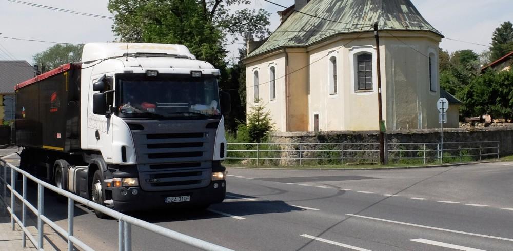 ilustrační foto kamion ve Frýdlantu - Liberecká Drbna