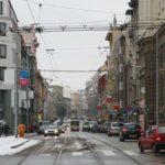 pohled na Veveří od Žerotinova náměstí