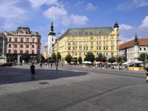 Náměstí Svobody, Brno - úplný střed historického centra Brna