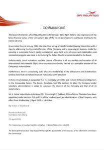 Air Mauritius tisková zpráva