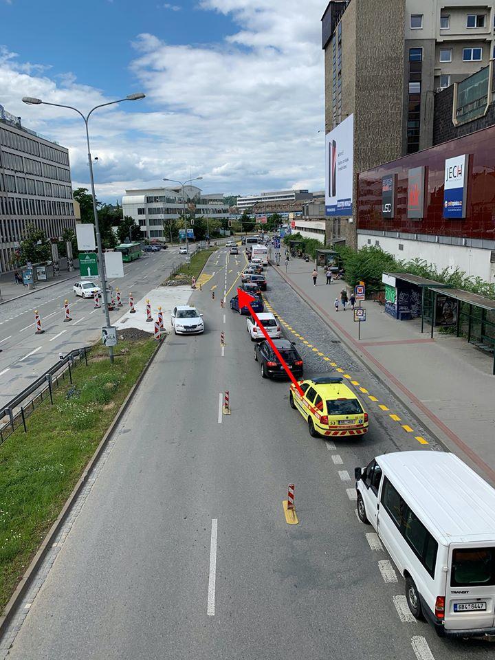 foto Waze Brno