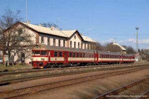 Železniční stanice Střelice. Foto: Michal Chrást
