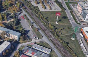 TIOP Ružinov. smyčka autobusu linky 39 a plánovaný přestupní bod na vlaky