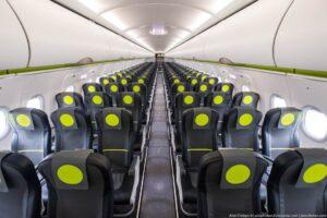 Interiér nových A320neo