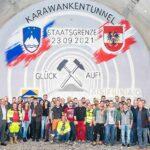 ASFINAG tým, který razil tunel