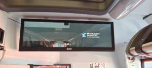 informační panel z nových vozů Arriva